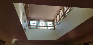 Reception area looking up